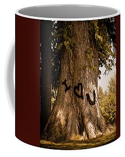 Carve I Love You In That Big White Oak Coffee Mug
