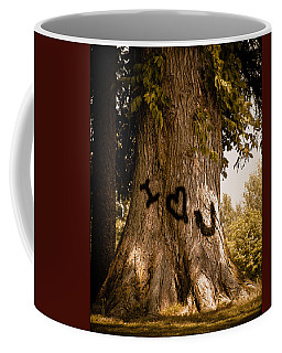 Carve I Love You In That Big White Oak Coffee Mug