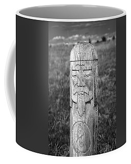 Coffee Mug featuring the photograph Carved Genghis Khan, Elsen Tasarkhai, 2016 by Hitendra SINKAR