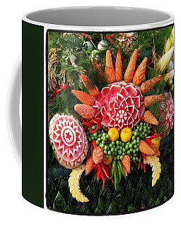 Coffee Mug featuring the photograph Carved Watermelon, And I Think Those by Mr Photojimsf