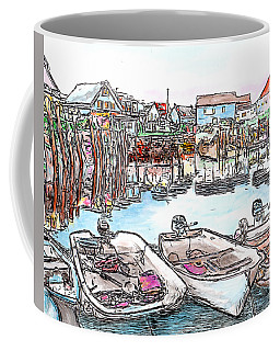 Carvers Harbour With Boats , Vinal Haven,  Maine Coffee Mug