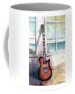Coffee Mug featuring the painting Carvin Electric Guitar by Andrew King