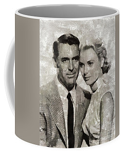Cary Grant And Grace Kelly, Hollywood Legends Coffee Mug