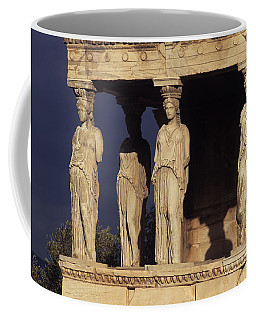 Caryatides At The Acropolis Coffee Mug
