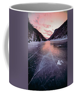 Coffee Mug featuring the photograph Cascade Ice by Brad Wenskoski