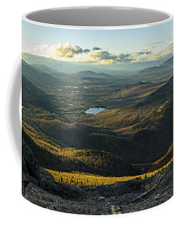 Coffee Mug featuring the photograph Cascade Mountain Sunset by Brad Wenskoski