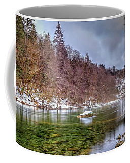 Coffee Mug featuring the photograph Cascade River Rocks by Spencer McDonald