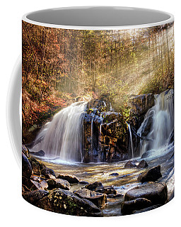 Coffee Mug featuring the photograph Cascades Of Light by Debra and Dave Vanderlaan