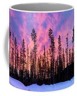 Cascades Sunrise In Winter Coffee Mug