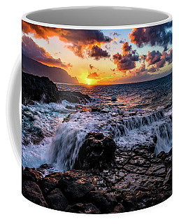 Cascading Water At Sunset Coffee Mug