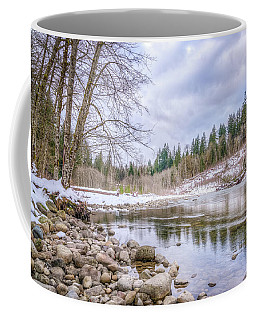 Coffee Mug featuring the photograph Cascasde Mountain Landscape by Spencer McDonald
