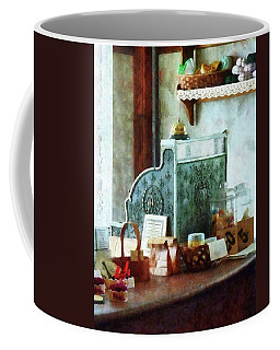 Coffee Mug featuring the photograph Cash Register In General Store by Susan Savad