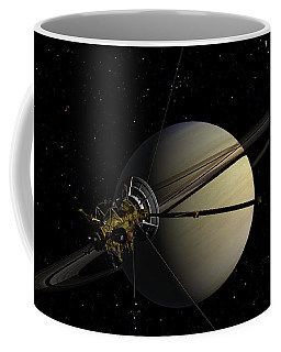 Cassini Orbiting Saturn Coffee Mug