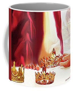 Coffee Mug featuring the mixed media Casting Crowns by Jennifer Page