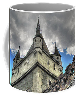 Coffee Mug featuring the pyrography  Castle Budapes by Yury Bashkin