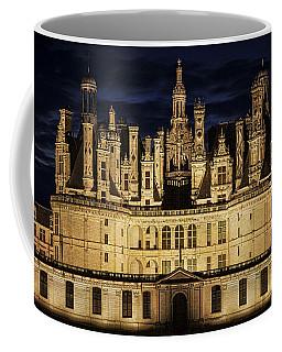 Coffee Mug featuring the photograph Castle Chambord Illuminated by Heiko Koehrer-Wagner
