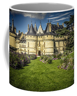 Coffee Mug featuring the photograph Castle Chaumont With Garden by Heiko Koehrer-Wagner