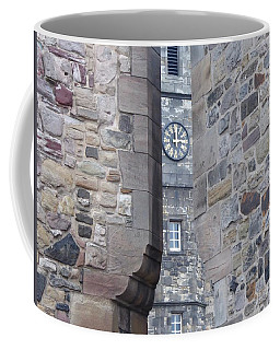 Castle Clock Through Walls Coffee Mug