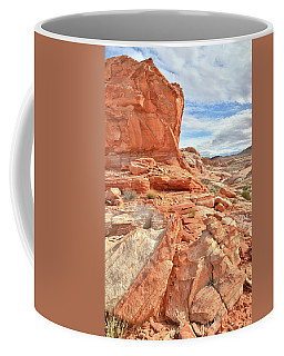 Castle High Above Wash 5 In Valley Of Fire Coffee Mug