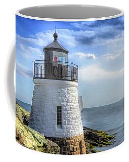 Coffee Mug featuring the painting Castle Hill Lighthouse by Christopher Arndt