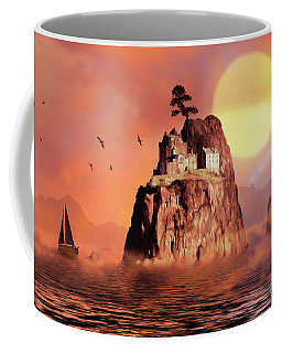 Castle On Seastack Coffee Mug
