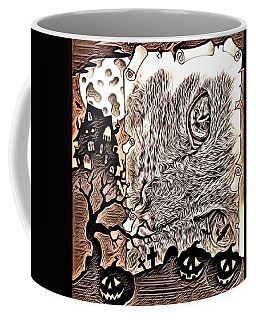Cat Abstract By Artful Oasis 2 Coffee Mug