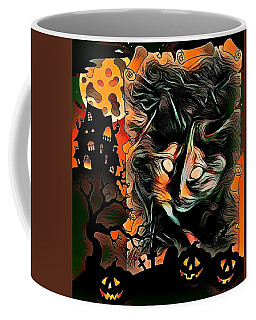Cat Abstract By Artful Oasis 3 Coffee Mug