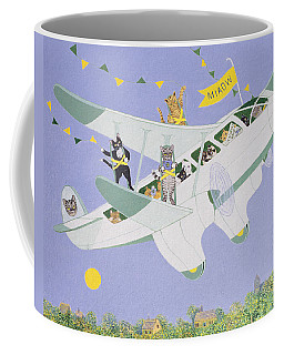 Cat Air Show Coffee Mug