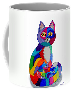 Cat And Kittens 2 Coffee Mug by Nick Gustafson