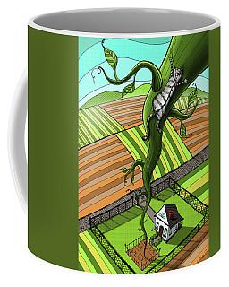Cat And The Beanstalk Coffee Mug