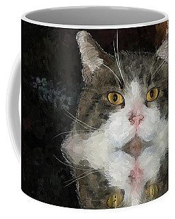 Cat At The Table Coffee Mug