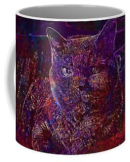 Coffee Mug featuring the digital art Cat Cat S Eyes Eye Animal Pet  by PixBreak Art