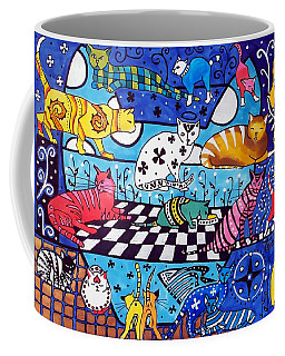 Cat Cocktail - Cat Art By Dora Hathazi Mendes Coffee Mug