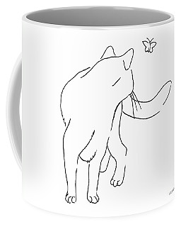 Cat-drawings-black-white-2 Coffee Mug