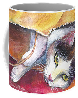 Cat In A Bag Painting Coffee Mug