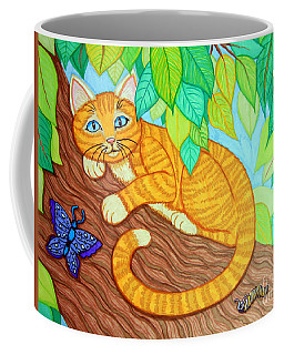 Cat In A Tree Coffee Mug by Nick Gustafson