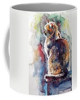 Cat In Backlight Coffee Mug