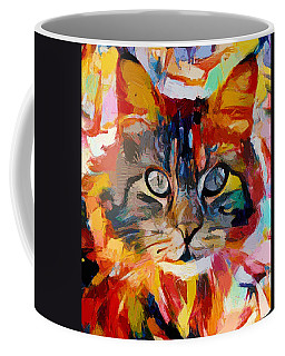 Cat In Fire Coffee Mug