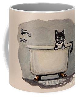 Cat In The Bathtub Coffee Mug