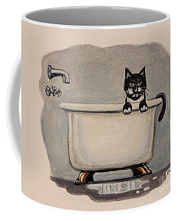 Cat In The Bathtub Coffee Mug