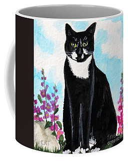 Cat In The Garden Coffee Mug