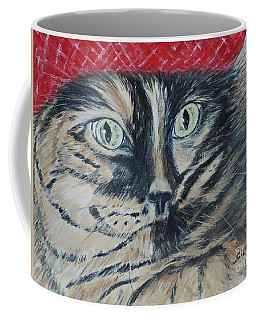Cat In The Red Beret. Hello Pearl Collection 2015 Coffee Mug by Oksana Semenchenko