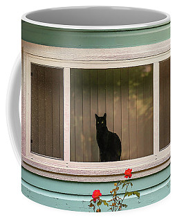 Cat In The Window Coffee Mug
