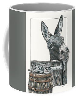 Cat On A Barrel Coffee Mug