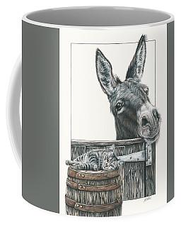 Cat On A Barrel Coffee Mug