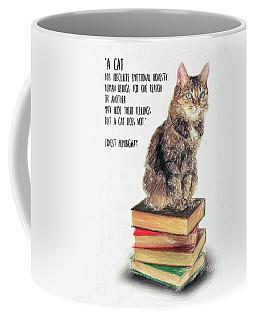 Cat Quote By Ernest Hemingway Coffee Mug