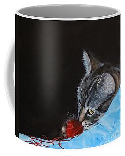 Cat With Red Yarn Coffee Mug