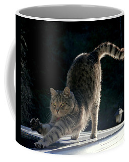Cat Yoga Coffee Mug by Peter Mooyman