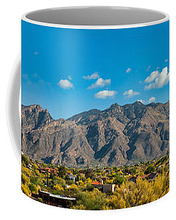 Coffee Mug featuring the photograph Catalina Mountain Panorama by Dan McManus