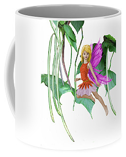 Catalpa Tree Fairy Among The Seed Pods Coffee Mug